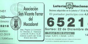 LOTERÍA DE NAVIDAD DEL ALTAR DEL MOCADORET